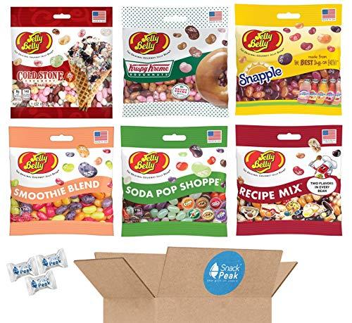 Jelly Belly Jelly Beans Variety Snack Peak Gift Box – Krispy Kreme, Snapple, Recipe Mix, Cold Stone, Soda Pop Shoppe and Smoothie Blend