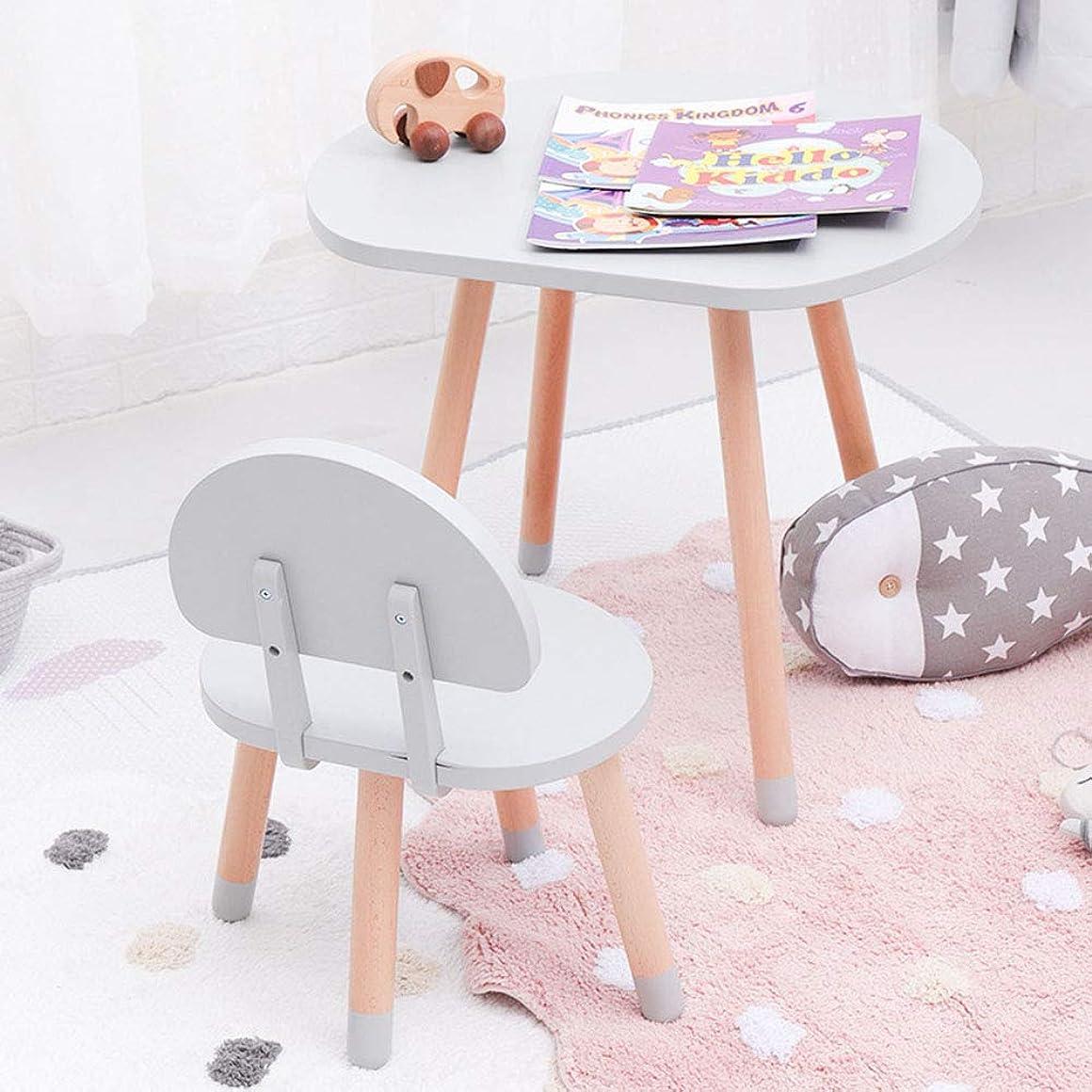 警報学期頑固な[1テーブル1チェア]子供用木製テーブルとチェアの組み合わせ - 幼稚園の机/ゲームテーブル|ビスタプリント背もたれ椅子