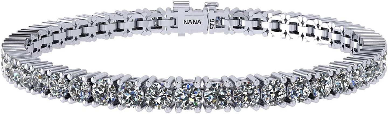 Simulated Diamond Tennis Bracelet, Swarovski Zirconia, Sterling