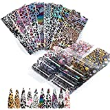 Mwoot 20 Diseños Nail Art Foil Sticker, Pegatina Calcomanías Uñas Transferencia Foils Transfer Cielo Estrellado Herramienta para Decoración de Uñas Manicura DIY