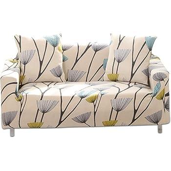 PETCUTE Fundas de sillón elástica Fundas elasticas para Sofas Fundas Ajustables para Sofas 2 plazas con Estampado de Flores