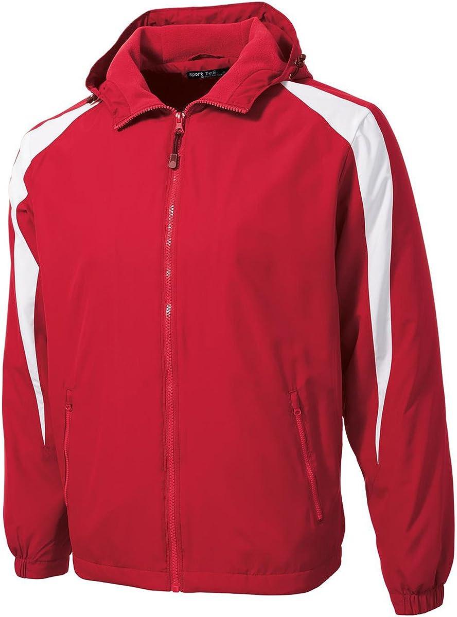 SPORT-TEK Mens Fleece-Lined Colorblock Jacket