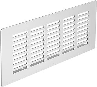 Gedotec Chapa Perforada Placa de Puente Rejillas Ventilación de Aluminio | 225 X 80mm | Altura 15mm | con Gerillten Stegen | Aluminio Natural Anodizado | Calidad de Marca para Su Sala de Estar