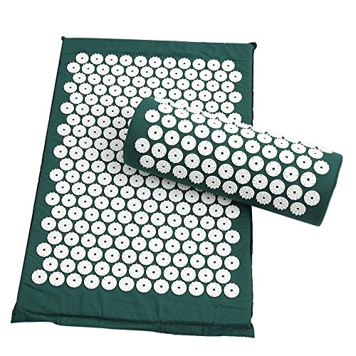 Acupressure Mat and Pillow Set for Relaxation and Pain Relief, Wellness Therapy...