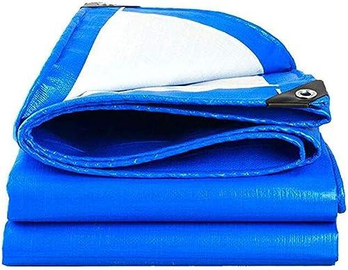 Mysida Tarpaulin Bache Robuste bache épaisse bache PE imperméable Feuille de bache Bleue bache de Couverture de qualité supérieure pour Le Camping en Plein air (Taille   5×5m)