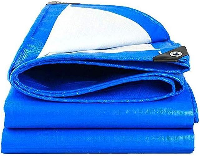 Mysida Tarpaulin Bache Robuste bache épaisse bache PE imperméable Feuille de bache Bleue bache de Couverture de qualité supérieure pour Le Camping en Plein air (Taille   3×5m)