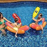Hamaca Agua Piscina Inflable De Flota En Jamón Salchicha Flotante Fila - Silla Cómoda Flotante para Adultos Y Niños - Diversión del Patio Trasero Piscina Raft - 180 * 120CM A