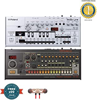 $759 » Roland TB-03 Bassline Synth with Roland TR-08 Drum Machine Includes Free Wireless Earbuds - Stereo Bluetooth In-ear and 1 Year Everything Music Extended Warranty