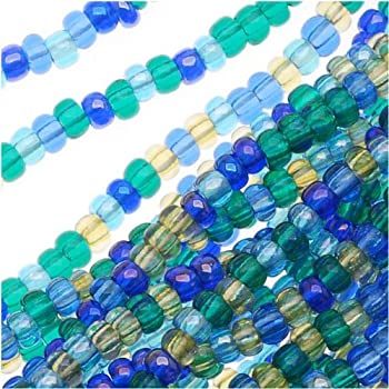 Czech 11//0 Mixes Rocaille Glass Seed Bead 12-strand Hanks