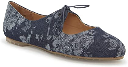 Me Too Cacey Women's Slip On 7.5 B(M) US Navy-Floral-Denim
