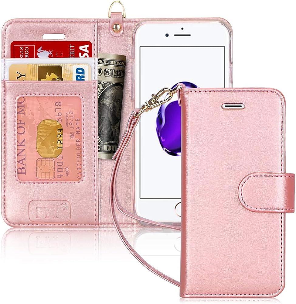 Fyy custodia per iphone 7/8/se 2020 portafoglio in pelle sintetica FYY-IT-H-326-iPhone-7-P
