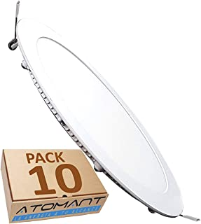 LED ATOMANT, S.L. Pack 10X Panel Downlight D Redondo Plano,