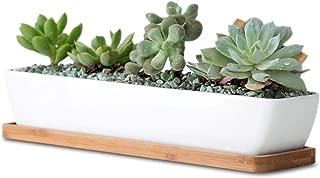 Best white ceramic planter rectangular Reviews
