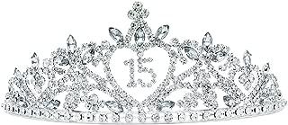 Rosemarie Collections Women's Rhinestone Birthday Tiara Crown