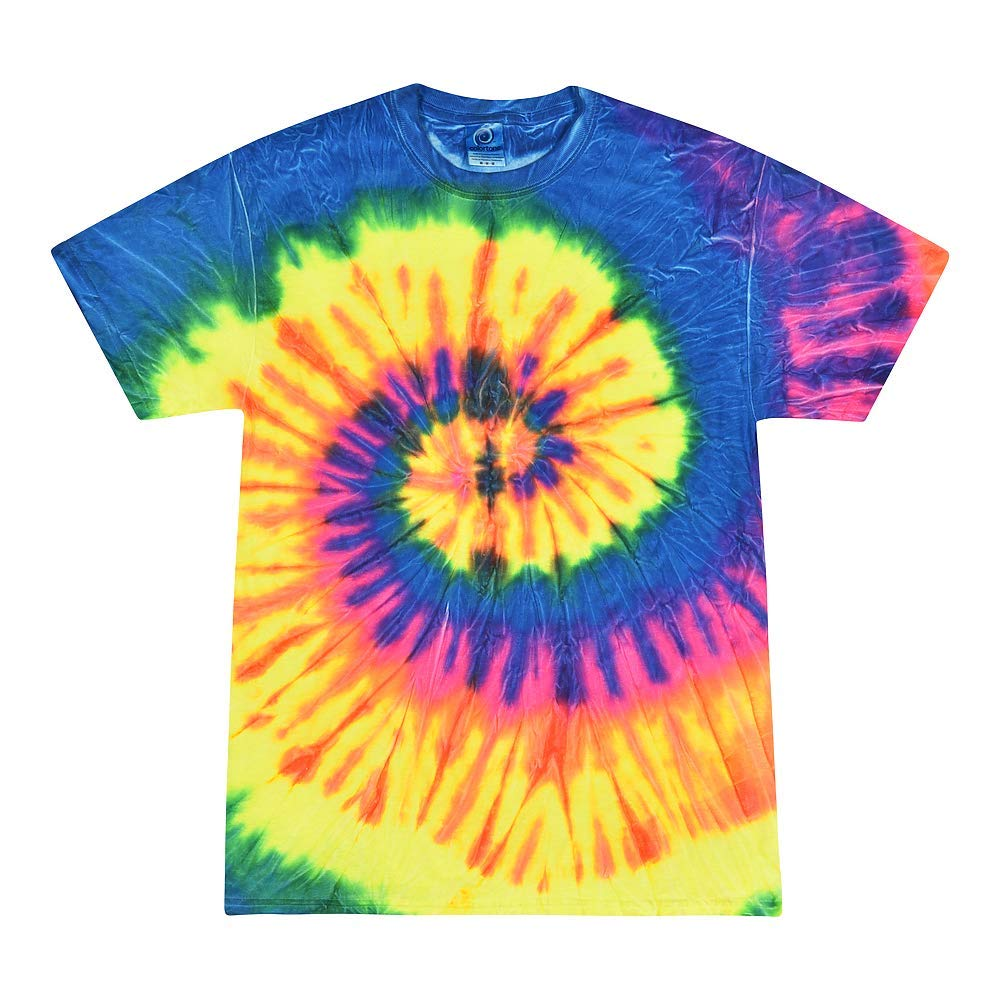 Tie Dye T-Shirts Youth XS 2-4  to Youth L 14-16 Cotton Multi-Color Eclipse