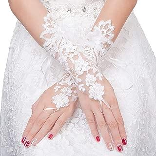 Women's Gloves Lace Long Fingerless Wrist Gloves for Wedding