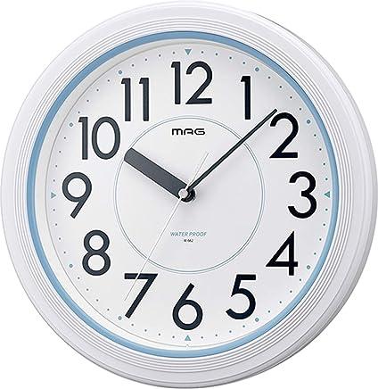MAG(マグ) 掛け時計 非電波 アナログ アクアガード 直径27.8cm 防塵 防水仕様 IP67 ホワイト W-662WH-Z