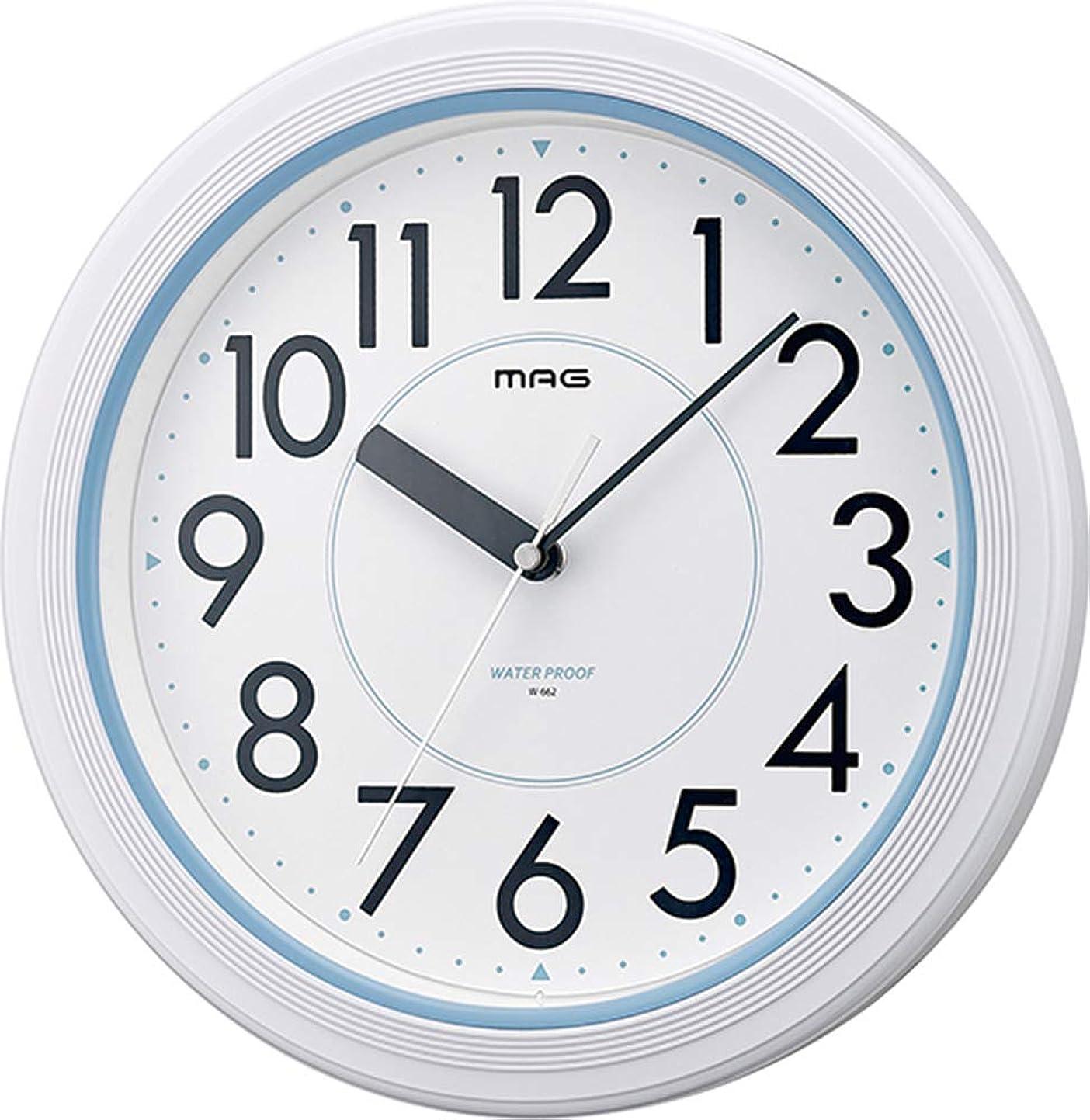 傘錫ロンドンMAG(マグ) 掛け時計 非電波 アナログ アクアガード 直径27.8cm 防塵 防水仕様 IP67 ホワイト W-662WH-Z