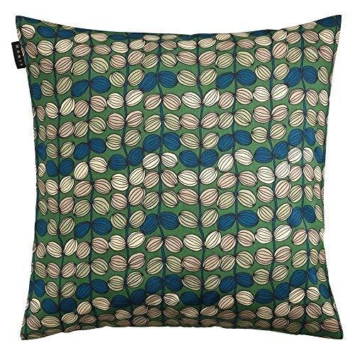 Linum BAYSWATER Dekorativ Kissenhülle Kissenbezug für Dekokissen 40cm x 40cm, 100% Baumwolle, Maschinenwaschbar, Wiesengrün