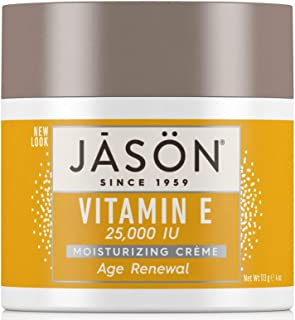 JASON Age Renewal Vitamin E 25,000 IU Moisturizing Crème, 4 Ounce Container (Pack of 2)