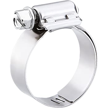 Pack of 10 Worm-Drive Breeze Power-Seal Stainless Steel Hose Clamp SAE Size 44 1//2 Bandwidth 2-5//16 to 3-1//4 Diameter Range