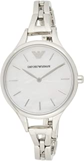 Emporio Armani Women's Dress Watch Quartz Stainless-Steel Strap, Silver, 7 (Model: AR11054)