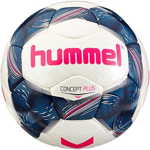hummel Erwachsene Concept Plus FB Fussball, White/Vintage Indigo/Pink, 5
