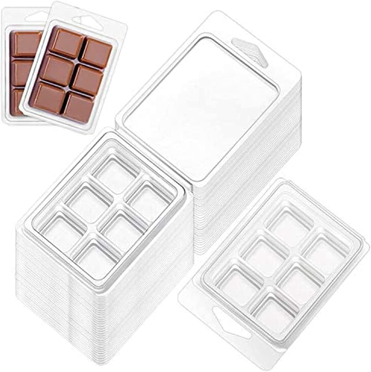 Wax Melt Max 66% OFF Mold Clamshells Molds Square Cavity Clear Max 41% OFF 6