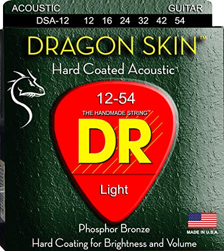 DR String DSA-12 Dragon Skin Juego Cuerdas Acústica