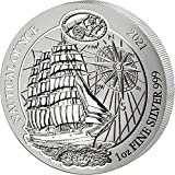 Power Coin Sedov Nautical Ounce Proof 1 Oz Moneda Plata 50 Francos Rwanda 2021