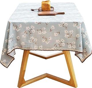 WENYAO Mantel-Japonés Mantel de Lino Mesa de Centro Rectangular Paño de Mantel Pequeño patrón Floral Encaje Tablero Decorativo (Tamaño: 140x220cm)