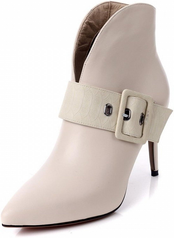 SED Herbst und Winter Wies Gürtelschnalle Seite Reiverschluss Stiletto Stiefel mit Leder Stiefel Frauen Leder