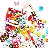 Liamostee 30 Stück DIY Scrapbooking Phone Case Decor Crafts Miniatur Kunstharz Lollipop Candy Zubehör