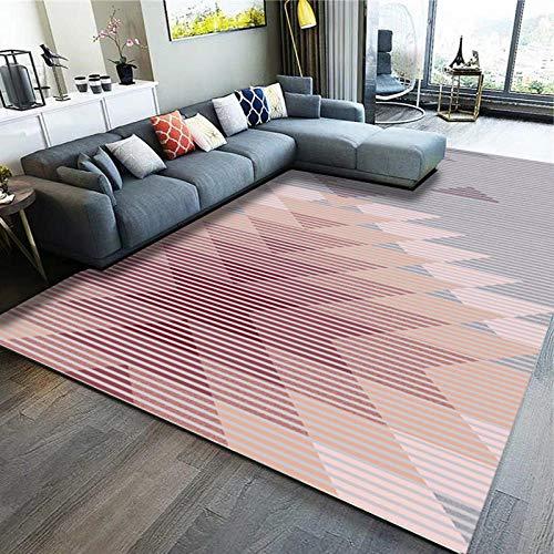 Alfombra de estilo moderno para salón, dormitorio, mesa de té, color verde, manta de mesilla de noche, alfombra – 1,4 x 2 metros