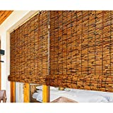 Cortinas De Caña Natural, Estores de Bambú para Exteriores, Persianas de Caña, para Sala de Cama Ventanas Puertas Sala de Arte Sombra Balcón,Personalizable