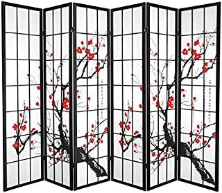 Oriental Furniture 6 ft Tall Double Sided Tiger Room Divider