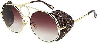 Mantimes - Gafas de sol polarizadas UV400 Protección Vintage Round Unisex Gafas de sol para pesca Ciclismo Golf (marrón)