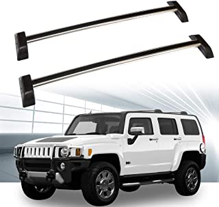 ROADFAR Roof Rack Aluminum Top Rail Carries Luggage Carrier Fit for 2006 2007 2008 2009 2010 Hummer H3 Sport Utility Baggage Rail Crossbars with Lock