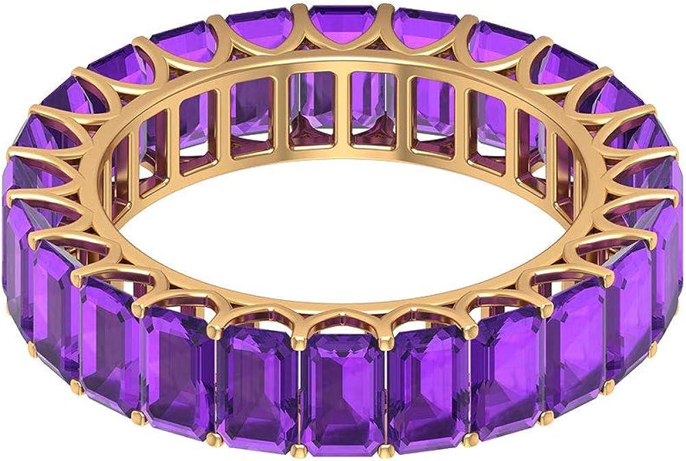8.4Ct 5X3mmAmethyst Full Eternity Ring Shape Long Beach Mall Octagon Gemstone R Max 88% OFF