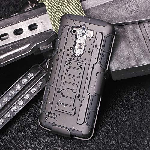 Cocomii Robot Belt Clip Holster LG G3 Case, Slim Thin Matte Kickstand Swivel Belt Clip Holster Reinforced Drop Protection Fashion Phone Case Bumper Cover Compatible with LG G3 (Black)