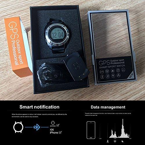 SmartWatch Phone All-in-One Bluetooth Smart Watch con GPS, cámara, Monitor de la frecuencia cardíaca, Fitness Muñequera Reloj para iPhone Android Smartphone