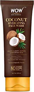 WOW Skin Science Coconut Hydrating Face Wash with Coconut Water - For Clarifying, Softening & Brightening Skin - For Dry/N...
