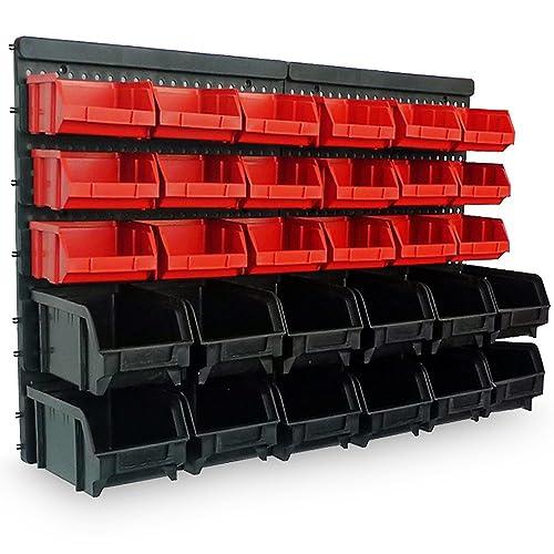 Estantería de bricolaje para pared | 32 Piezas | Organizador de herramientas | Portaherramientas estático para
