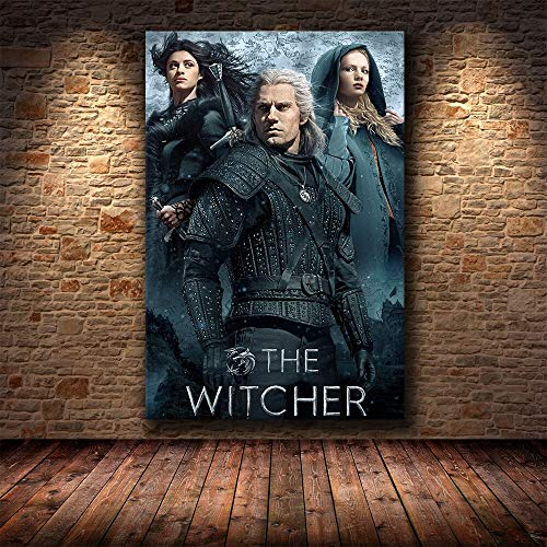 Ayjxtz Jigsaw puzzle 1000 piece Witcher Warrior Video Game Art Painting jigsaw puzzle 1000 piece Educational Intellectual Decompressing Toy Puzzles Fun Family Game for Kids Adults50x75cm(20x30inch)