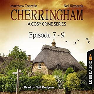 Cherringham - A Cosy Crime Series Compilation     Cherringham 7-9              Written by:                                                                                                                                 Matthew Costello,                                                                                        Neil Richards                               Narrated by:                                                                                                                                 Neil Dudgeon                      Length: 7 hrs and 59 mins     9 ratings     Overall 4.7