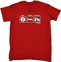 123t Kids Funny Tee - UAU Eat Sleep Rugby - Childrens Top T-Shirt T Shirt