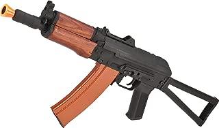 Evike Full Metal AKS-74U / AK-74 Airsoft AEG Rifle with Real Wood Furniture by CYMA (Package: Gun Only)