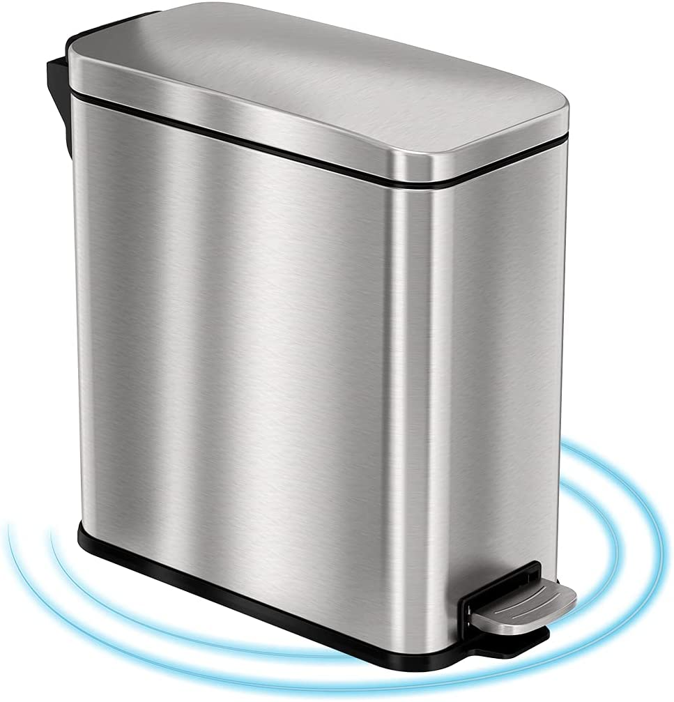 iTouchless SoftStep Special Campaign 3 Gallon Small Trash Bathroom Challenge the lowest price Slim with Can