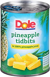 DOLE Pineapple Tidbits in 100% Pineapple Juice, 20 Ounce Can (Pack of 12)