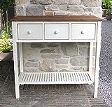 GRASEKAMP Qualität seit 1972 Premium Pflanztisch Toskana 100 x 45 x 95 cm Akazie Weiß Gartentisch Sideboard